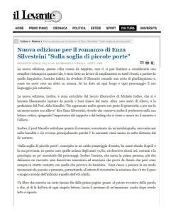 ARTICOLO ENZA SILVESTRINI