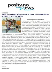 ARTICOLO RAVELLO POSITANO NEWS